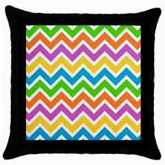 Chevron Pattern Design Texture Throw Pillow Case (black) by Sapixe