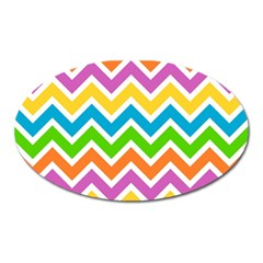 Chevron Pattern Design Texture Oval Magnet