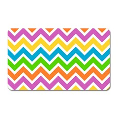 Chevron Pattern Design Texture Magnet (rectangular) by Sapixe