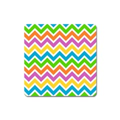 Chevron Pattern Design Texture Square Magnet by Sapixe