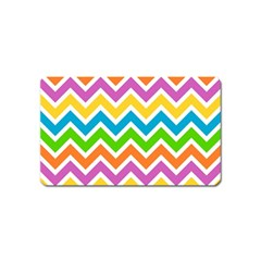 Chevron Pattern Design Texture Magnet (name Card) by Sapixe