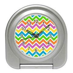 Chevron Pattern Design Texture Travel Alarm Clock