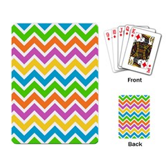 Chevron Pattern Design Texture Playing Cards Single Design by Sapixe