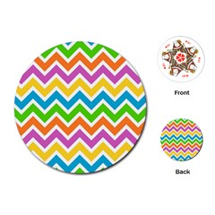Chevron Pattern Design Texture Playing Cards (round)