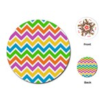 Chevron Pattern Design Texture Playing Cards (Round) Front