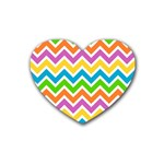 Chevron Pattern Design Texture Heart Coaster (4 pack)  Front