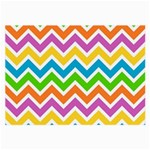 Chevron Pattern Design Texture Large Glasses Cloth (2 Sides) Back