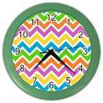 Chevron Pattern Design Texture Color Wall Clock Front