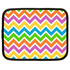 Chevron Pattern Design Texture Netbook Case (xl)