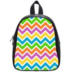 Chevron Pattern Design Texture School Bag (Small) Front