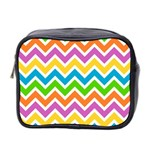 Chevron Pattern Design Texture Mini Toiletries Bag (Two Sides) Front