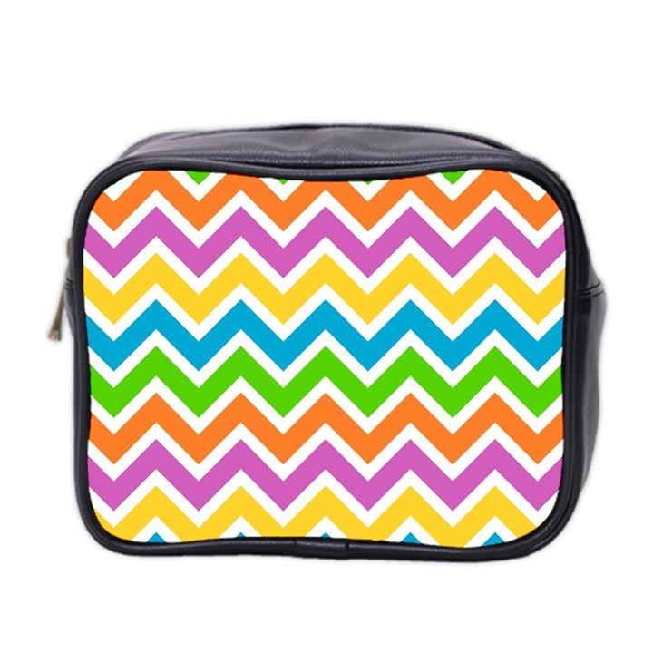 Chevron Pattern Design Texture Mini Toiletries Bag (Two Sides)