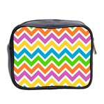 Chevron Pattern Design Texture Mini Toiletries Bag (Two Sides) Back