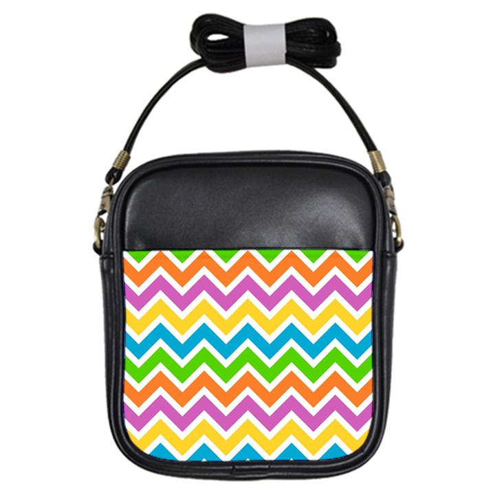 Chevron Pattern Design Texture Girls Sling Bag