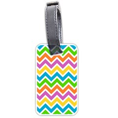 Chevron Pattern Design Texture Luggage Tag (one Side) by Sapixe