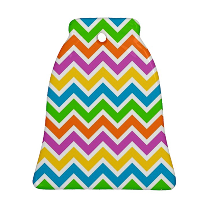 Chevron Pattern Design Texture Bell Ornament (Two Sides)