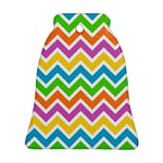 Chevron Pattern Design Texture Bell Ornament (Two Sides) Back