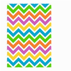 Chevron Pattern Design Texture Small Garden Flag (two Sides) by Sapixe
