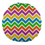 Chevron Pattern Design Texture Large 18  Premium Round Cushions Back