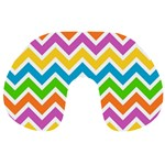 Chevron Pattern Design Texture Travel Neck Pillow Front