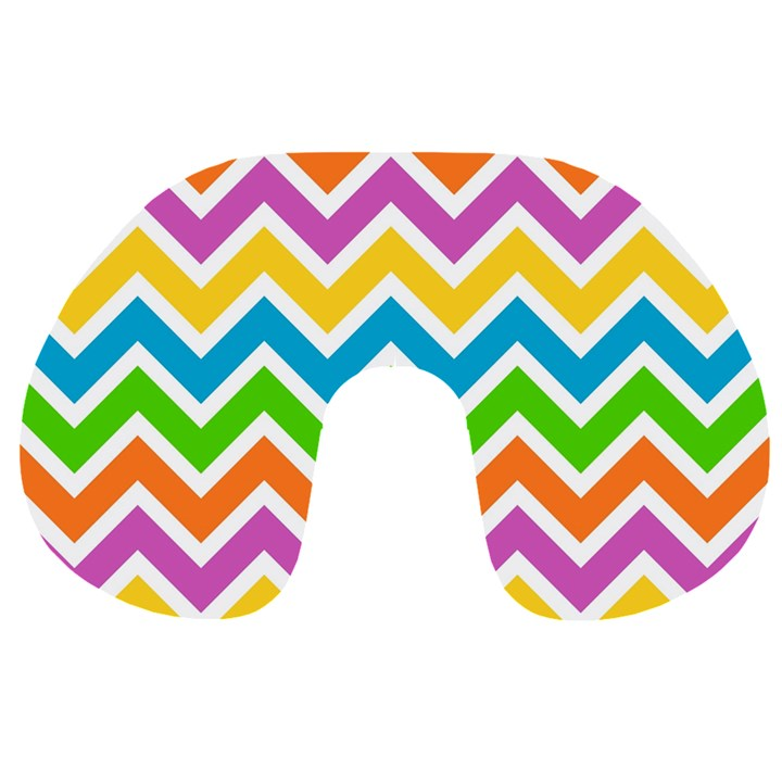 Chevron Pattern Design Texture Travel Neck Pillow