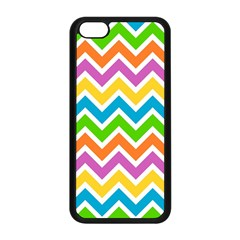 Chevron Pattern Design Texture Iphone 5c Seamless Case (black) by Sapixe