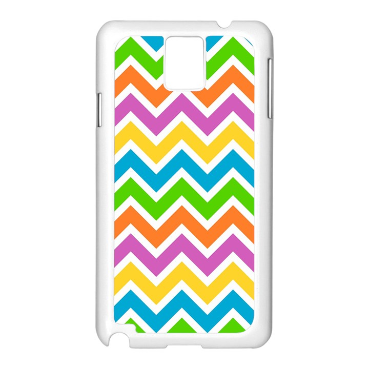Chevron Pattern Design Texture Samsung Galaxy Note 3 N9005 Case (White)