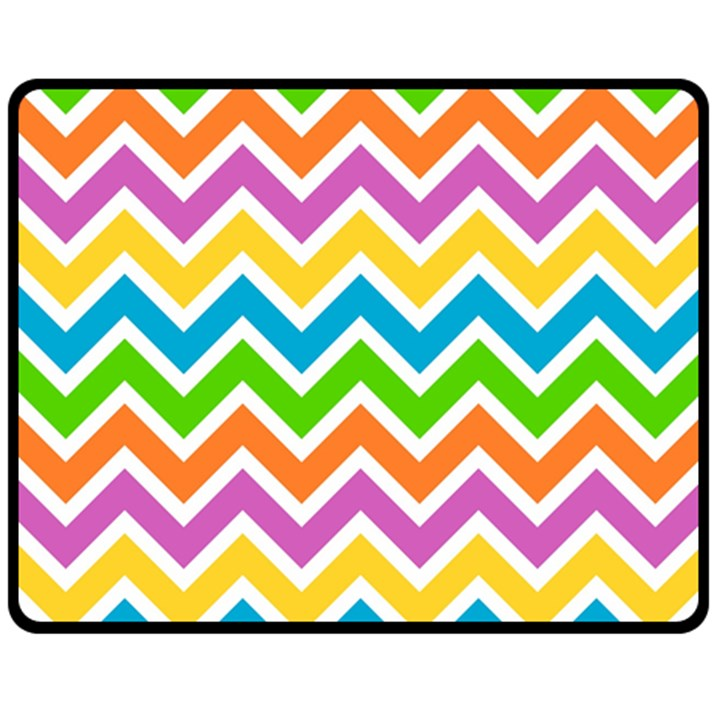Chevron Pattern Design Texture Double Sided Fleece Blanket (Medium)