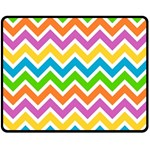 Chevron Pattern Design Texture Double Sided Fleece Blanket (Medium)  58.8 x47.4  Blanket Back