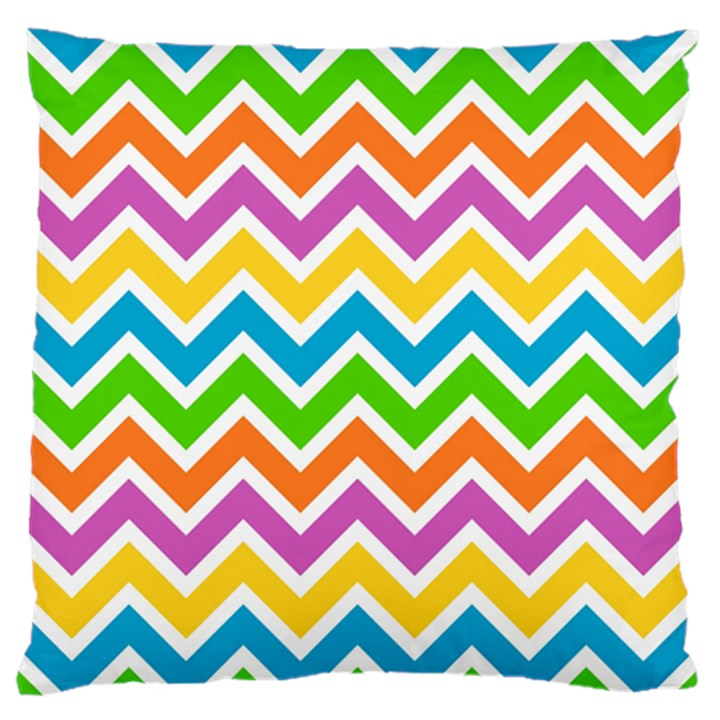 Chevron Pattern Design Texture Standard Flano Cushion Case (One Side)