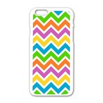 Chevron Pattern Design Texture iPhone 6/6S White Enamel Case Front