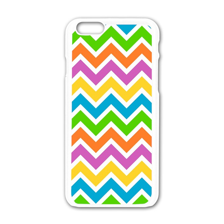 Chevron Pattern Design Texture iPhone 6/6S White Enamel Case