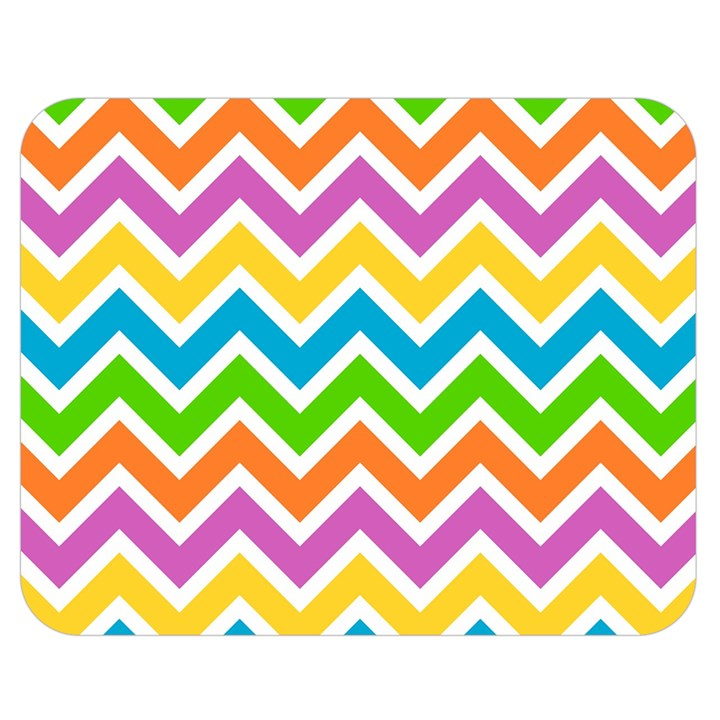 Chevron Pattern Design Texture Double Sided Flano Blanket (Medium)