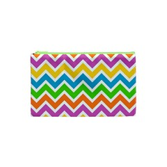 Chevron Pattern Design Texture Cosmetic Bag (xs)