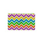 Chevron Pattern Design Texture Cosmetic Bag (XS) Back