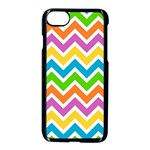 Chevron Pattern Design Texture iPhone 7 Seamless Case (Black) Front