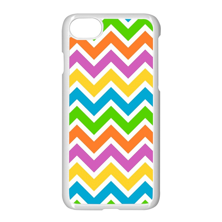 Chevron Pattern Design Texture iPhone 8 Seamless Case (White)