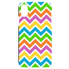 Chevron Pattern Design Texture Iphone X/xs Black Uv Print Case