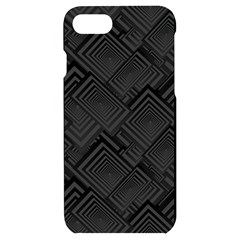 Diagonal Square Black Background Iphone 7/8 Black Uv Print Case