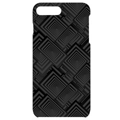 Diagonal Square Black Background Iphone 7/8 Plus Black Uv Print Case