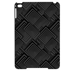Diagonal Square Black Background Apple Ipad Mini 4 Black Uv Print Case
