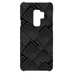 Diagonal Square Black Background Samsung S9 Plus Black Uv Print Case