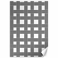 Seamless Stripe Pattern Lines Canvas 12  X 18  by Sapixe