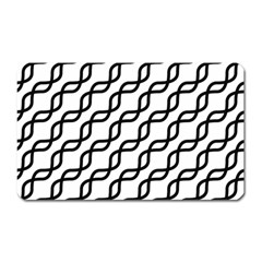 Diagonal Stripe Pattern Magnet (rectangular) by Sapixe
