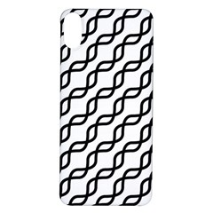 Diagonal Stripe Pattern Iphone X/xs Soft Bumper Uv Case
