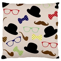 Moustache Hat Bowler Bowler Hat Standard Flano Cushion Case (one Side) by Sapixe