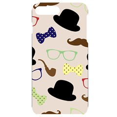 Moustache Hat Bowler Bowler Hat Iphone 7/8 Plus Black Uv Print Case