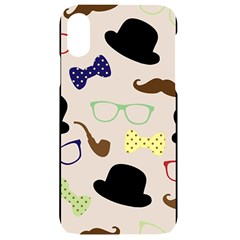 Moustache Hat Bowler Bowler Hat Iphone Xr Black Uv Print Case