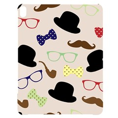 Moustache Hat Bowler Bowler Hat Apple Ipad Pro 12 9   Black Uv Print Case