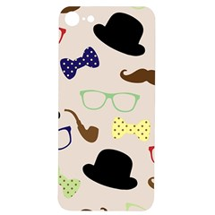Moustache Hat Bowler Bowler Hat Iphone 7/8 Soft Bumper Uv Case